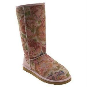 UGG Rose Printed Tall Boots Sz 7